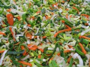 versneden groenten